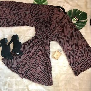 Victoria secrets  kimono animal print wrap dress